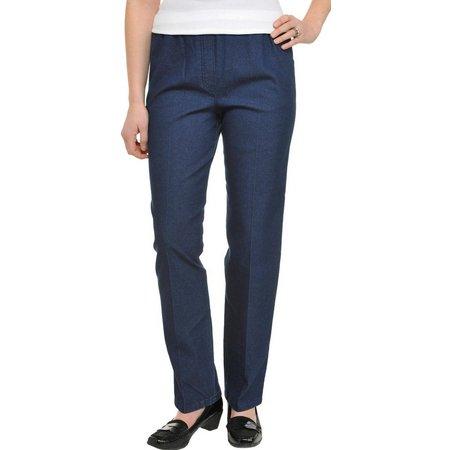 Alia Womens Chambray Denim Jeans