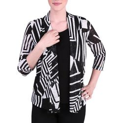 Alia Womens Print Pointe Cardigan