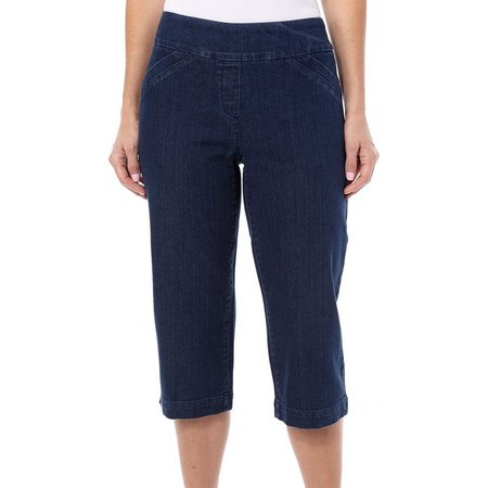 Alia Diamond Denim Capris