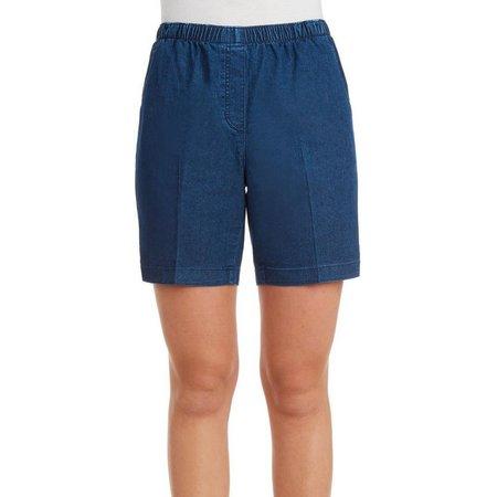 Alia Womens Denim Pull-On Shorts