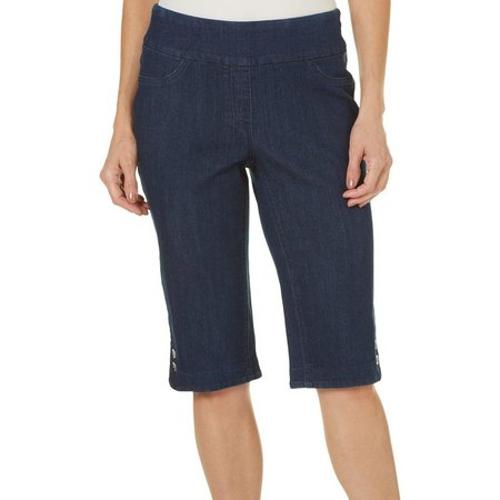 Alia Womens Denim Stretch Skimmer Shorts