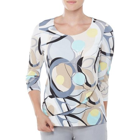 Alia Womens Painted Layered Front Top