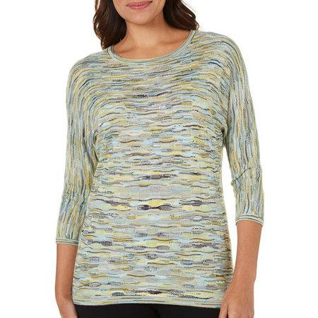 Alia Womens Space Dyed Pattern Top