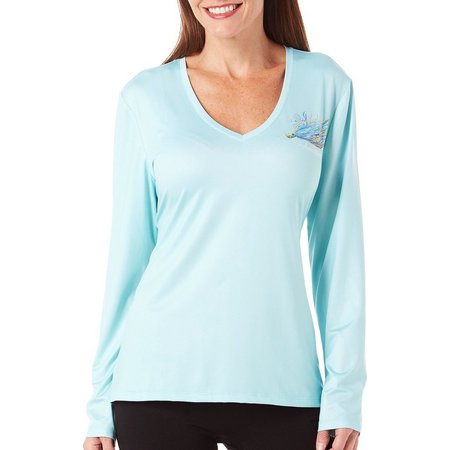 Amber Moran Womens Luring In V-Neck Top