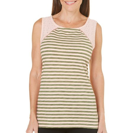 Juniper + Lime Womens Kate Stripe Tank Top