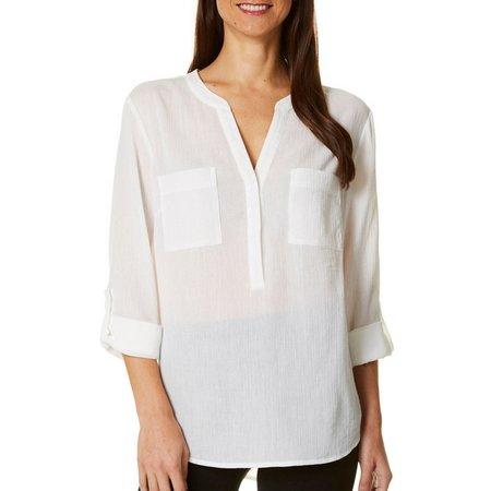 Juniper+ Lime Womens Gauze Shirt
