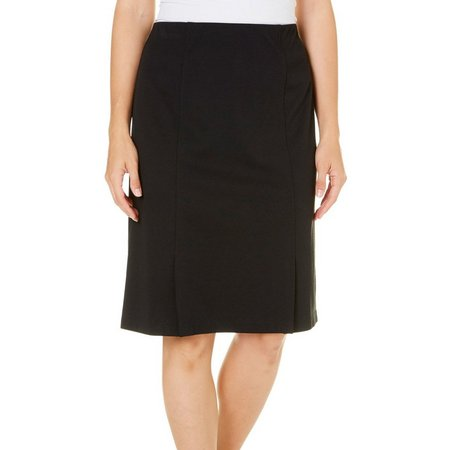 Alfred Dunner Womens Ethnic Beat Solid Skirt