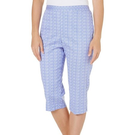 Alfred Dunner Womens Reel It In Sea Print