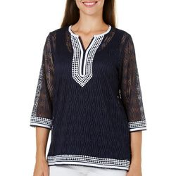 New! Alfred Dunner Womens Seas The Day Lace
