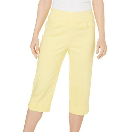 Alfred Dunner Womens Bahama Bays Solid Capris