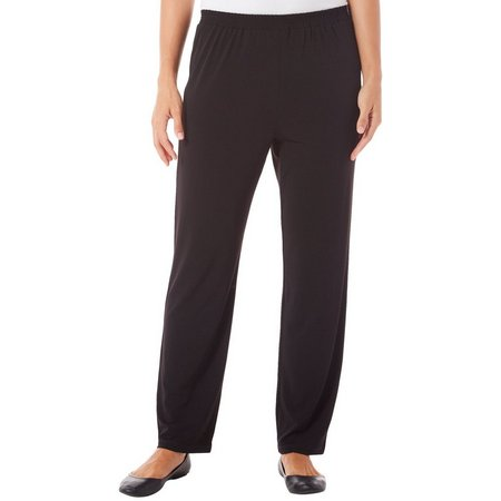 Alfred Dunner Womens Saratoga Srpings Solid Pants