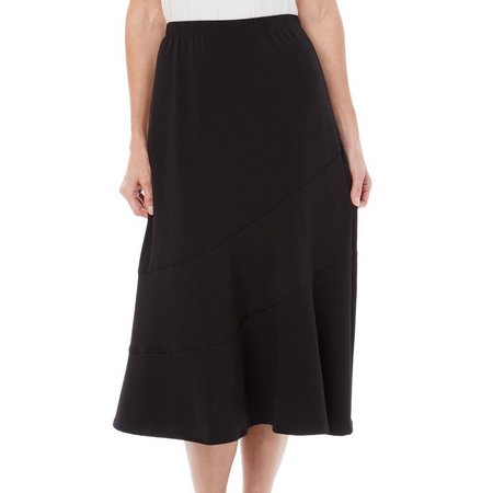 Alfred Dunner Womens Saratoga Springs Stitch Skirt