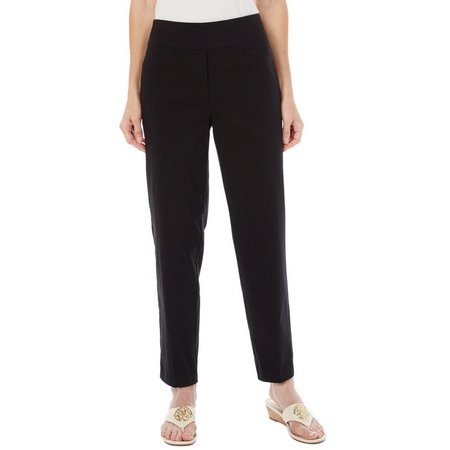 Alfred Dunner Womens Closet Case Solid Pants