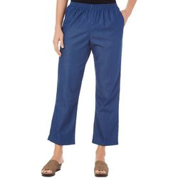 Alfred Dunner Womens Classic Denim Pull On Pants