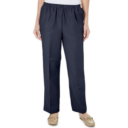 Alfred Dunner Classics Solid Color Pants