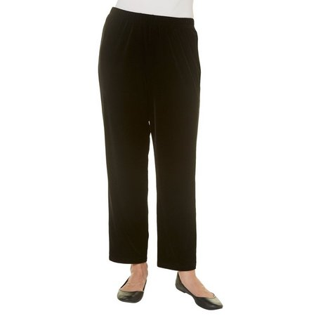 Alfred Dunner Womens Deck The Halls Velvet Pants