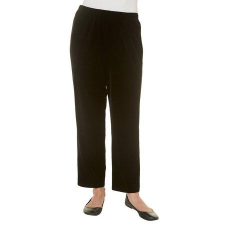 Alfred Dunner Womens Deck The Halls Velvet Pants