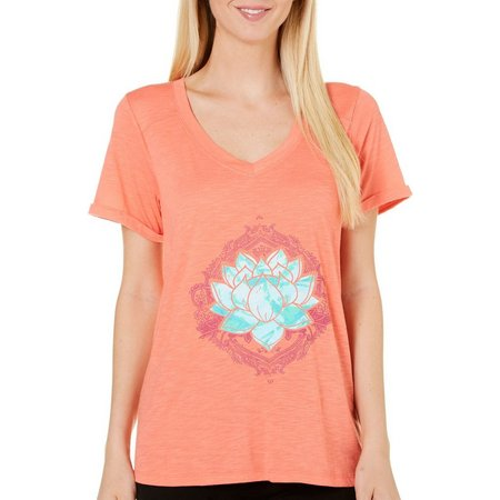 Jamie & Layla Womens Lotus V-Neck T-Shirt