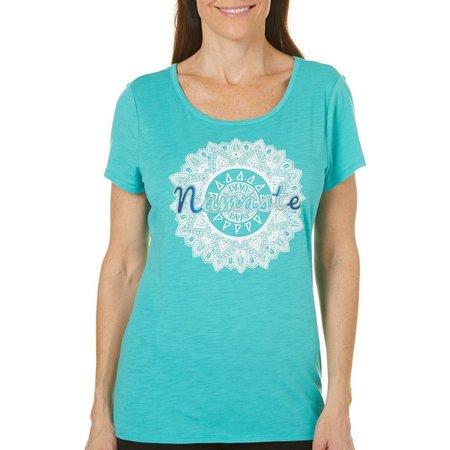 Jamie & Layla Womens Namaste Scoop Neck T-Shirt
