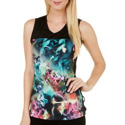 Nanette Lepore Womens Orchid Print Tank Top