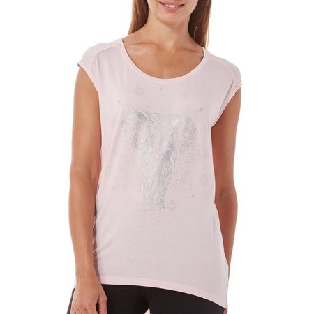 Gaiam Womens Dani Elephant Graphic High-Low Top