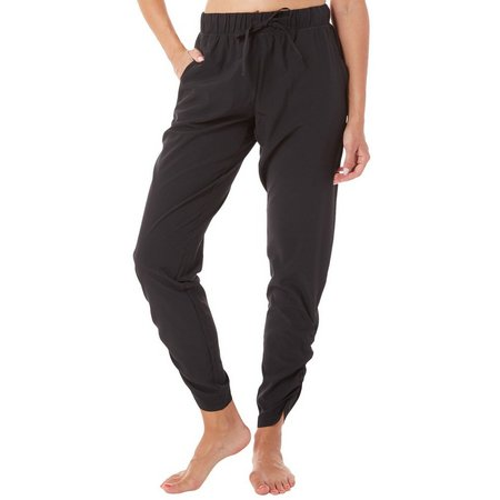 Gaiam Womens Cara Woven Ruched Tapered Pants