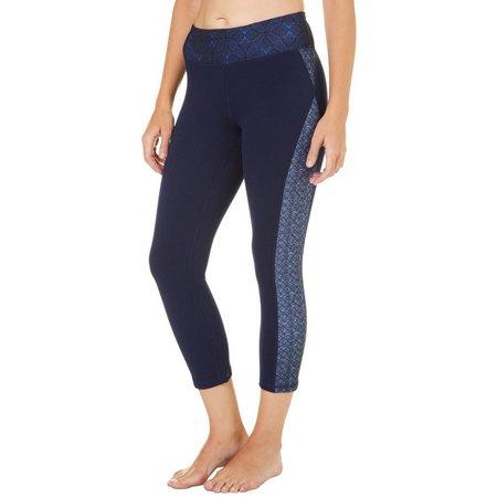 Gaiam Womens OM Luxe Yoga Capri Leggings