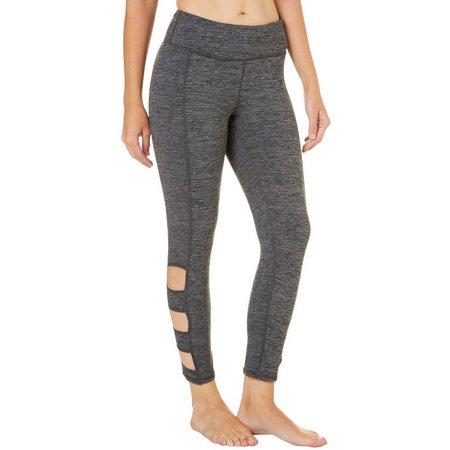 Gaiam Womens Willa Marled Knit Cutout Leggings