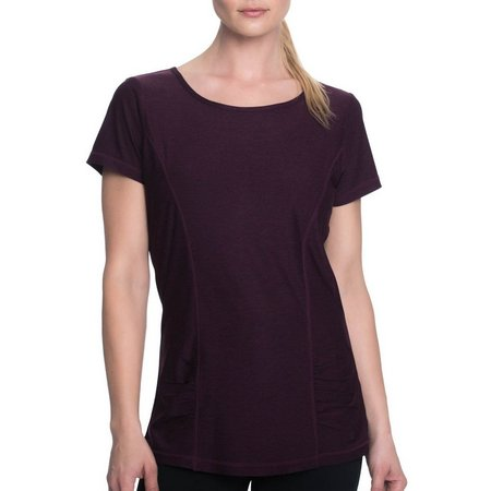Gaiam Womens Energy Heather Cut Out Back Top