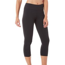 Gaiam Womens Mid Rise Striated Yoga Capri Leggings