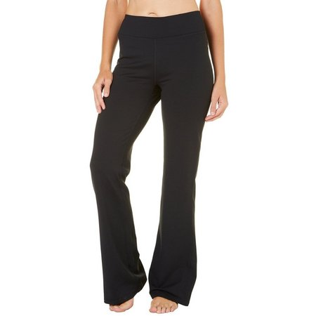 Gaiam Womens Mis Rise Solid Bootcut Yoga Pants