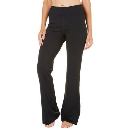 Gaiam Womens Mis Rise Solid Bootcut Yoga Pants