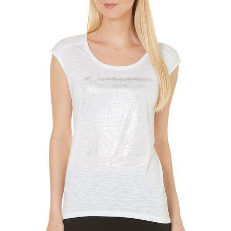 Gaiam Womens Dani Yoga Metallic Screen T-Shirt