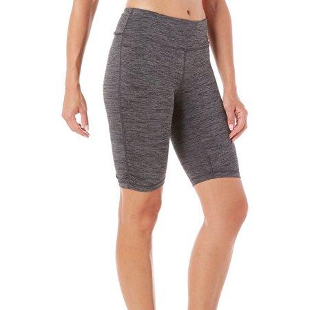 Gaiam Womens Solid Mid Rise Yoga Shorts