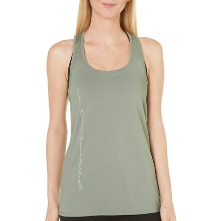 Gaiam Womens Riley Scoop Neck Yoga Tank Top