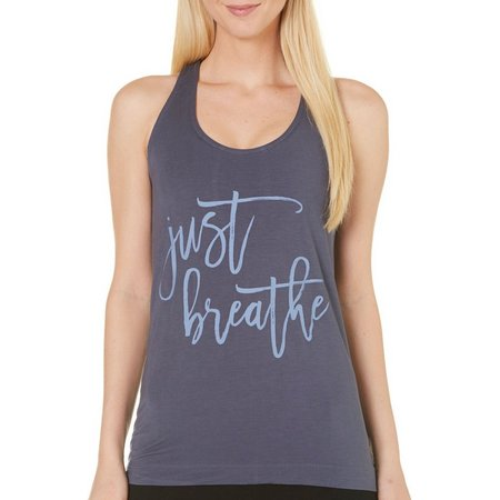 New! Gaiam Womens Fiona Just Breathe Graphic Tank