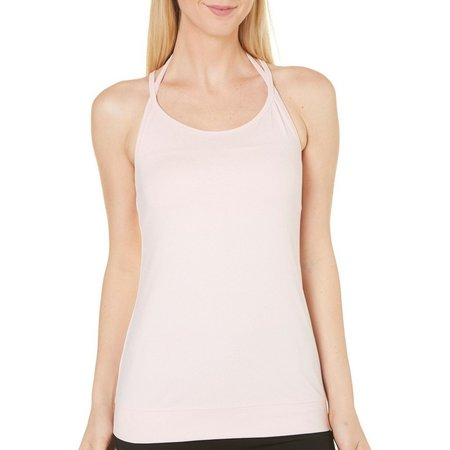 New! Gaiam Womens Siren Solid Strappy Tank Top