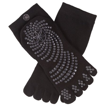 Gaiam Womens Grippy Non-Slip Yoga Socks
