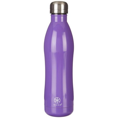 Gaiam 17 oz. Solid Stainless Steel Water Bottle