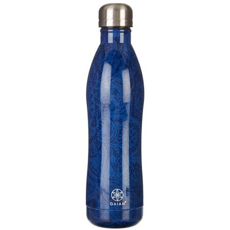 Gaiam 17 oz. Paisley Stainless Steel Water Bottle