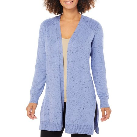 89th & Madison Womens Ribbed Trim Cozy Cardigan