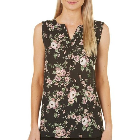 Sami & Jo Womens Floral Print High-Low Tank