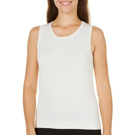 August Silk Womens Ribbed Shell Tank Top