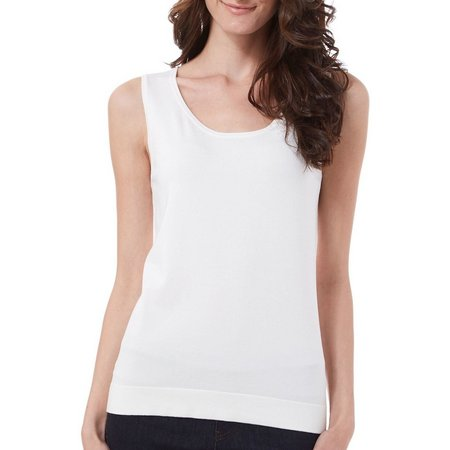 August Silk Womens Solid Ribbed Shell Tank Top