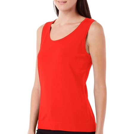 August Silk Womens Sleeveless Shell Tank Top