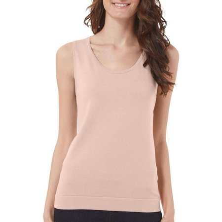 August Silk Womens Solid Shell Tank Top