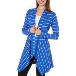 New! STRAZZI Womens Stripe Cardigan With Pockets
