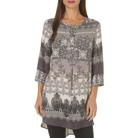 Figueroa and Flower Womens Kendra Patchwork Top