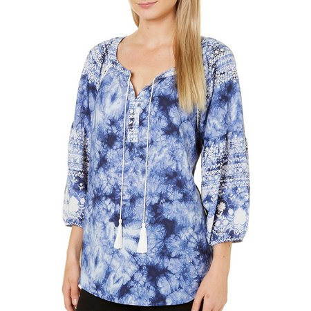 Figueroa and Flower Womens Becka Tie Dye Tassel