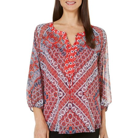 Figueroa and Flower Womens Asia Floral Print Top
